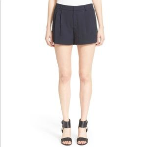 VINCE Trouser Casual Shorts navy Blue NWT